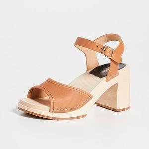 Swedish hasbeens block heel clogs